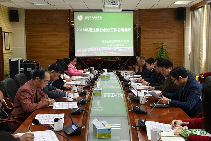 清职院召开2018年招生就业创业工作总结会议